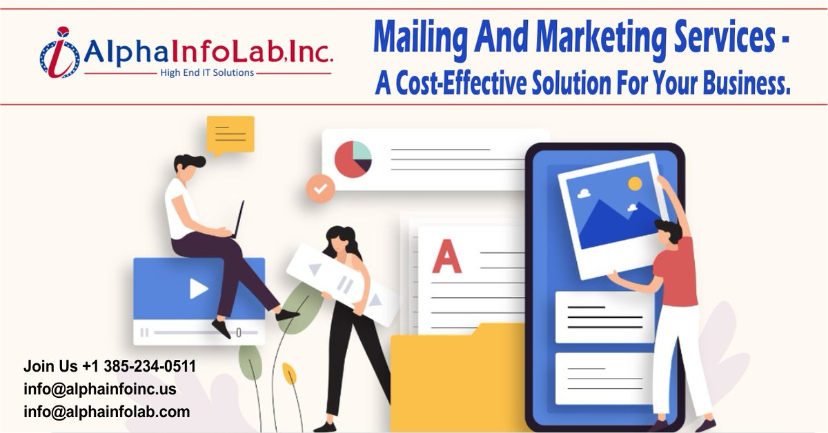 The most popular and reliable way to reach potential customers is through Mailing And Marketing Solutions.  🌐   #Alphainfolab #RedmiNote10Launch #RipCity #SnowfallFX  #Blazers #MarriedAtFirstSight #CongratulationsTaehyung #mafsatl #CongratulationsJimin