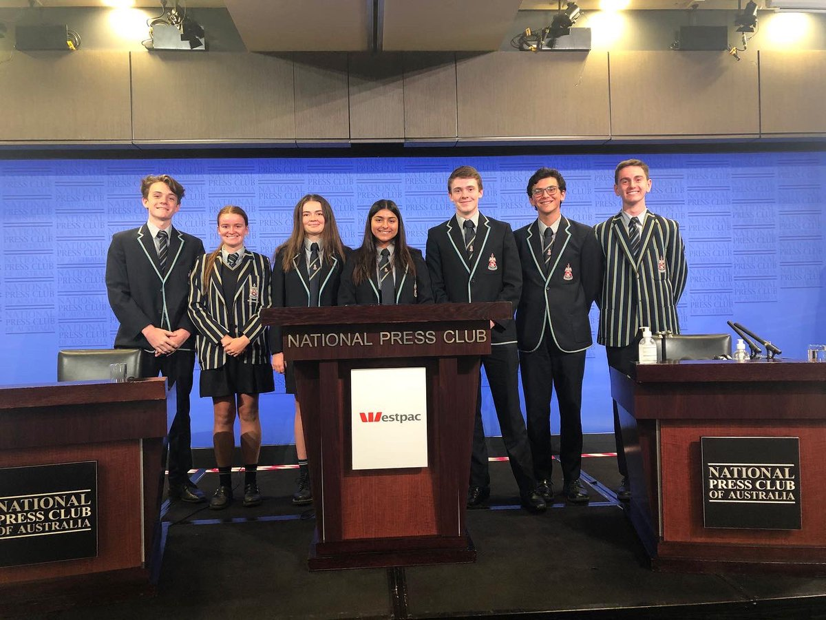 A small group of Canberra Grammar School students were fortunate enough to be in attendance at the National Press Club yesterday, to hear a speech from Australian of the Year Grace Tame.  Our School Captain Umi was also able to ask Grace a question, during a post-speech Q&A.