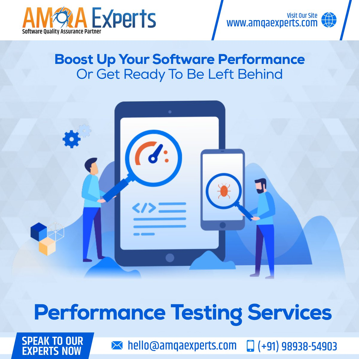 Boost up #speed, #scalability, and #stability of the #softwareapplication with #PerformanceTestingServices.  Speak to our Experts now: Click:  Email: hello@amqaexperts.com Call/WhatsApp at +919893854903  #SnowfallFX #RHONJ #AEWDynamite #ThursdayMotivation
