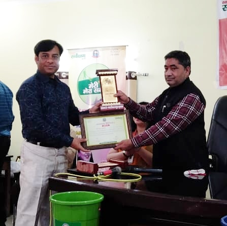 FFLV got felicitated with appreciation award by the Mathura-Vrindavan Municipal Council for our constant contribution to the cleanliness and protection of the natural environment of Vrindavan. #environmentprotection #cleanindia #cleanvrindavan #charity #fflvcharity #vrindavan