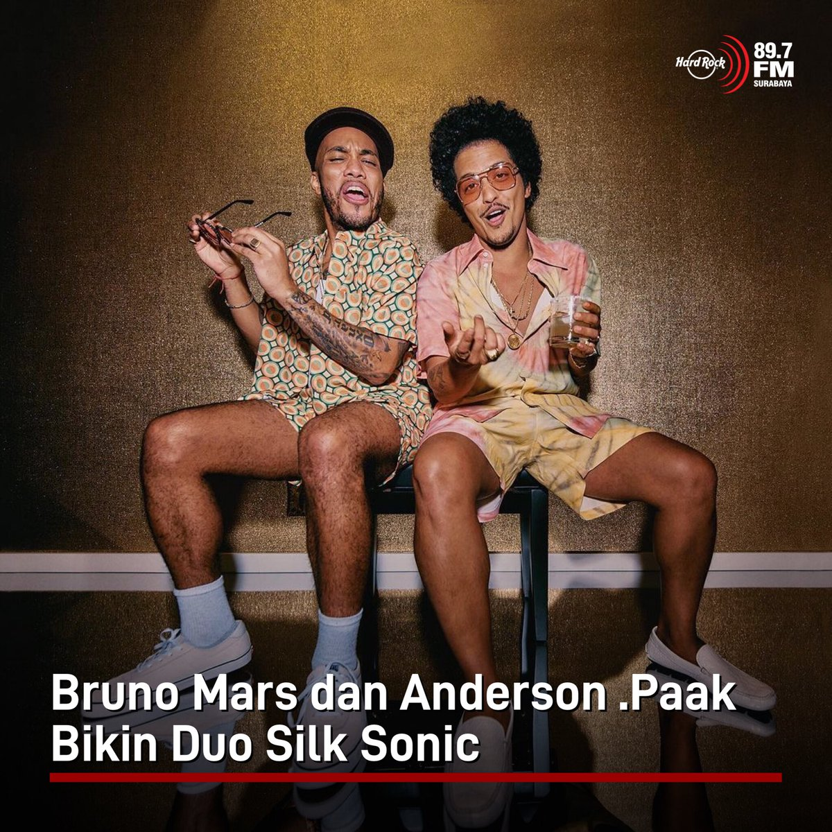 #HRFMNews Bruno Mars dan Anderson. Paak bikin proyek kolaborasi yang diberi nama Silk Sonic.  Mereka mengumumkan bahwa duo ini bakal bikin album dan single pertamanya akan dirilis Jumat 5 Maret besok.