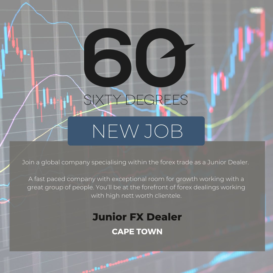 test Twitter Media - New #JobAlert - Junior FX Dealer in Cape Town  For more information & to apply, please click on the link in the below;  https://t.co/KwX7LLc990  #nowhiring #60degrees #juniordealer #FX https://t.co/R2sygngOrG