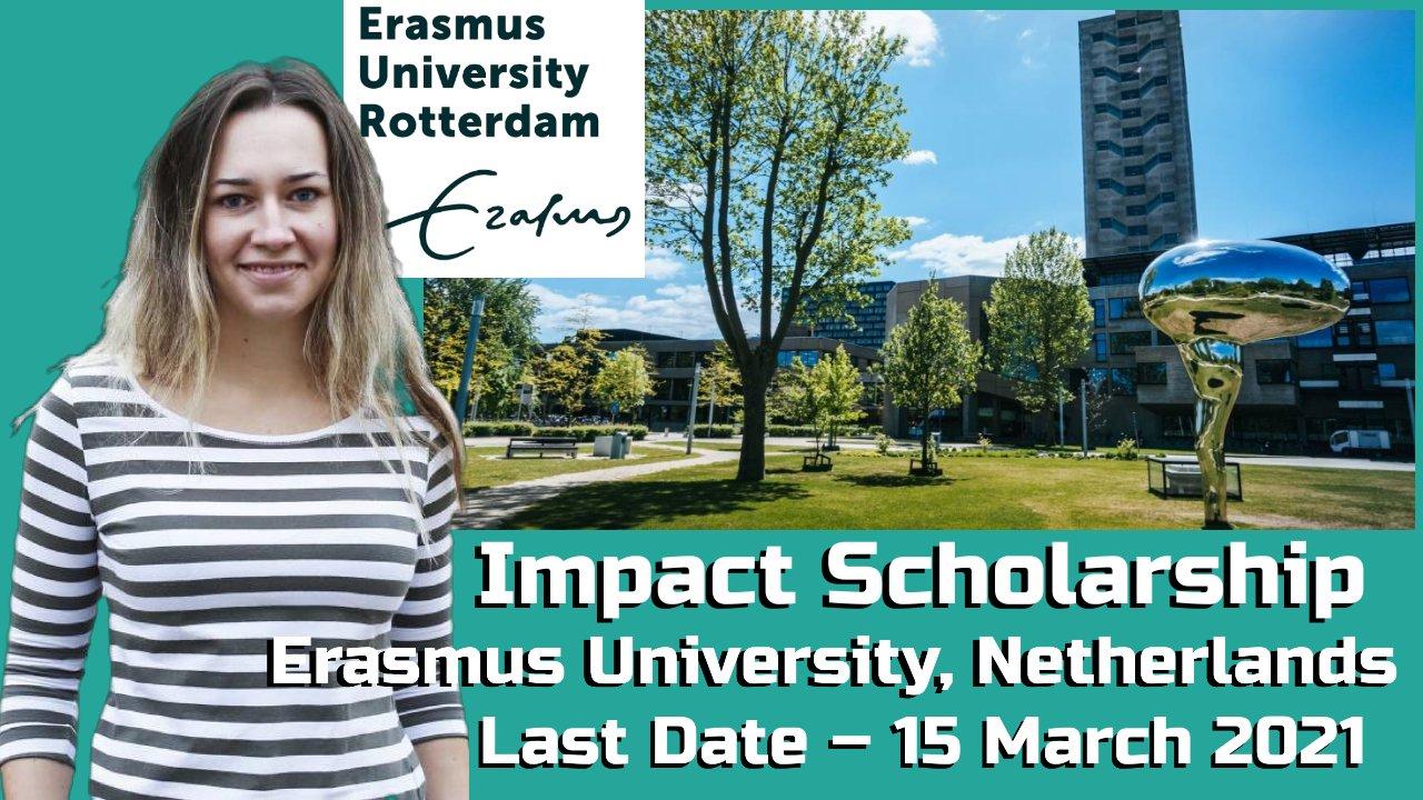 Impact Scholarship by Erasmus University, Netherlands