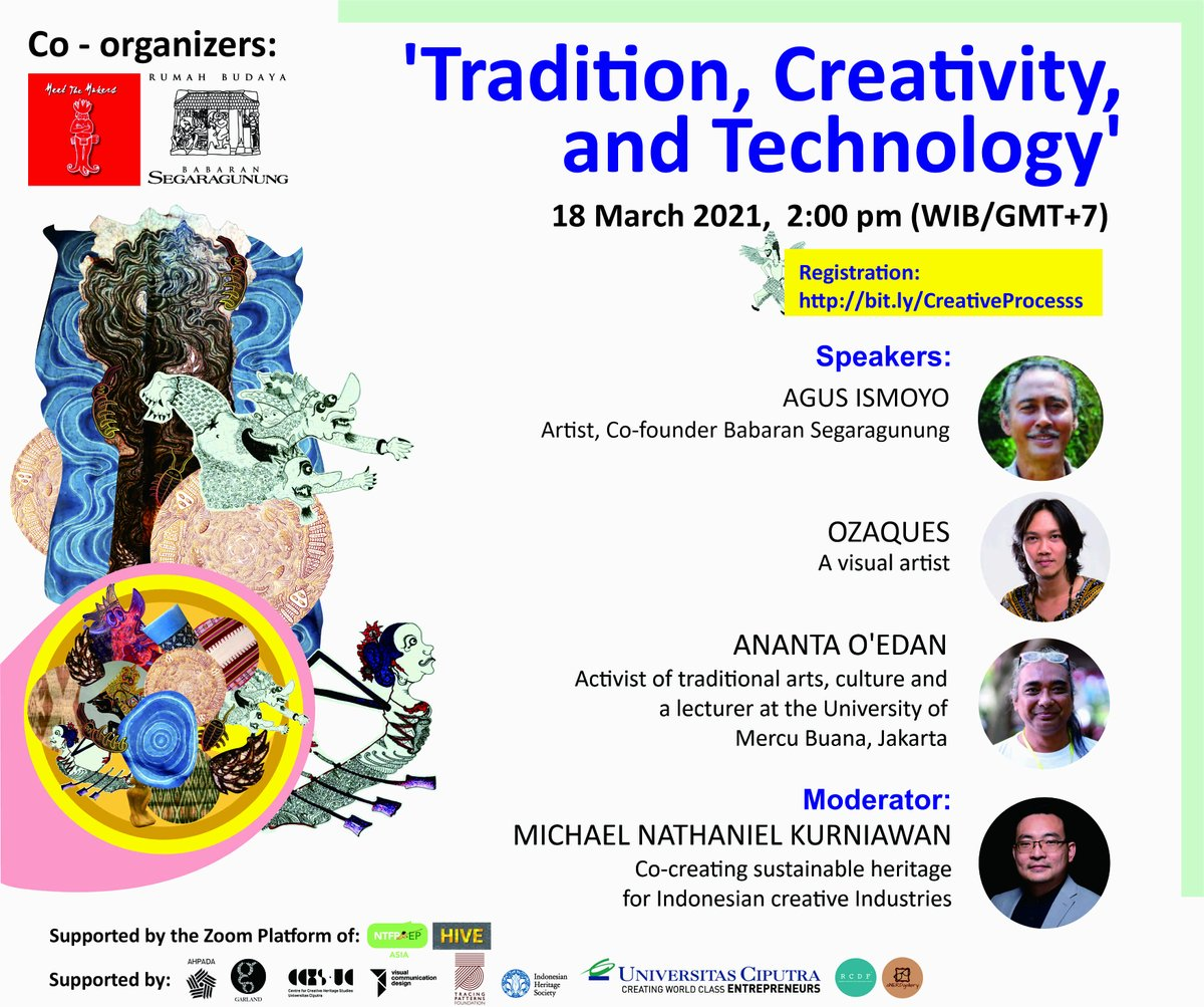 Join Meet the Makers Indonesia for an upcoming webinar series on creativity as a cultural heritage entitle