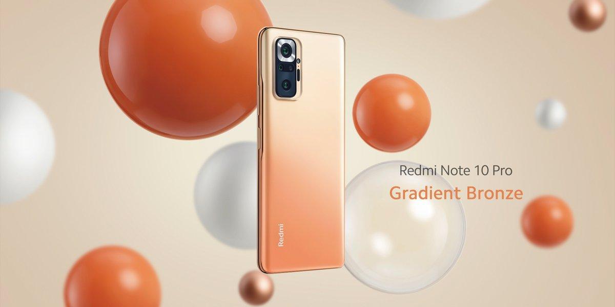 Redmi Note 10 Pro in Bronze Gradient color option