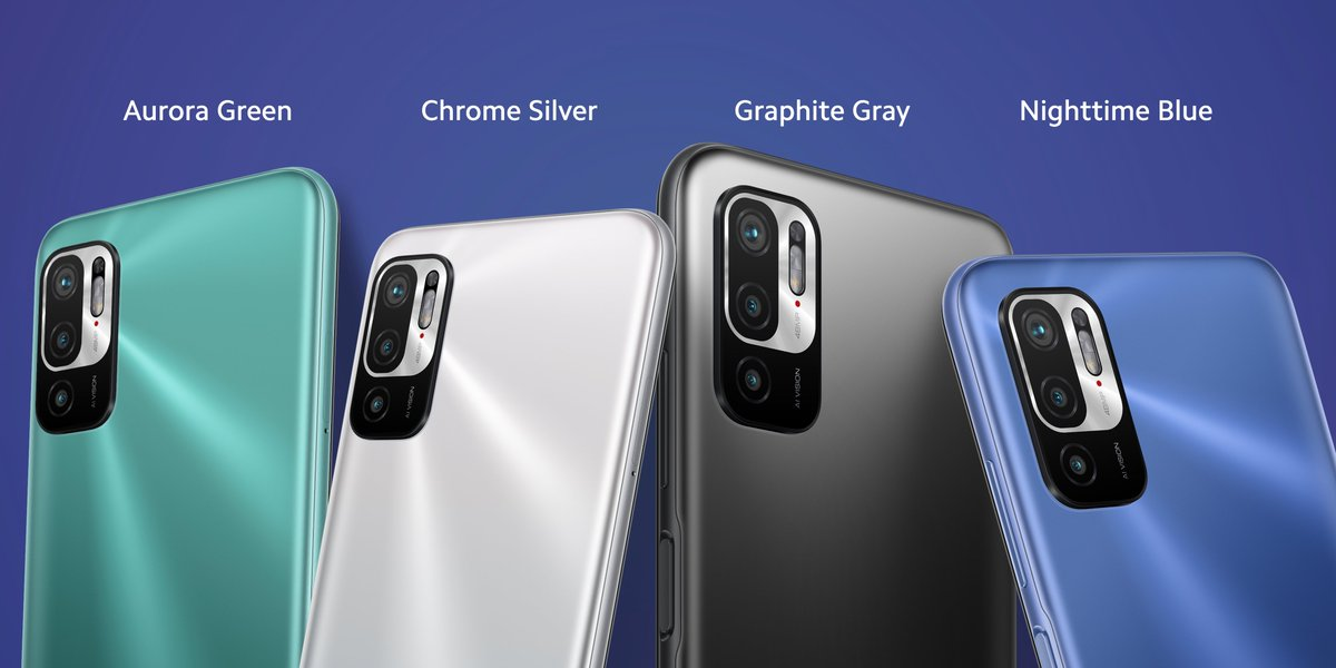 5G variant of the series in different colors.