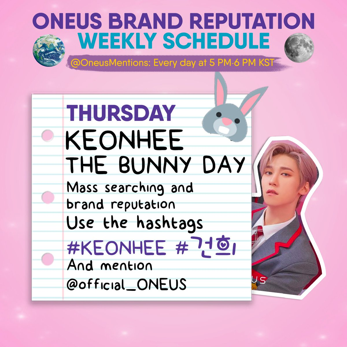 🐰[KEONHEE'S BRAND REPUTATION DAY]   Retweet and reply with:   🎹 10 musical instruments(reference below) 🎵 All B-sides songs   Use the tags:    #건희 #KEONHEE  KEONHEE THE BUNNY DAY  #원어스 @\official_ONEUS