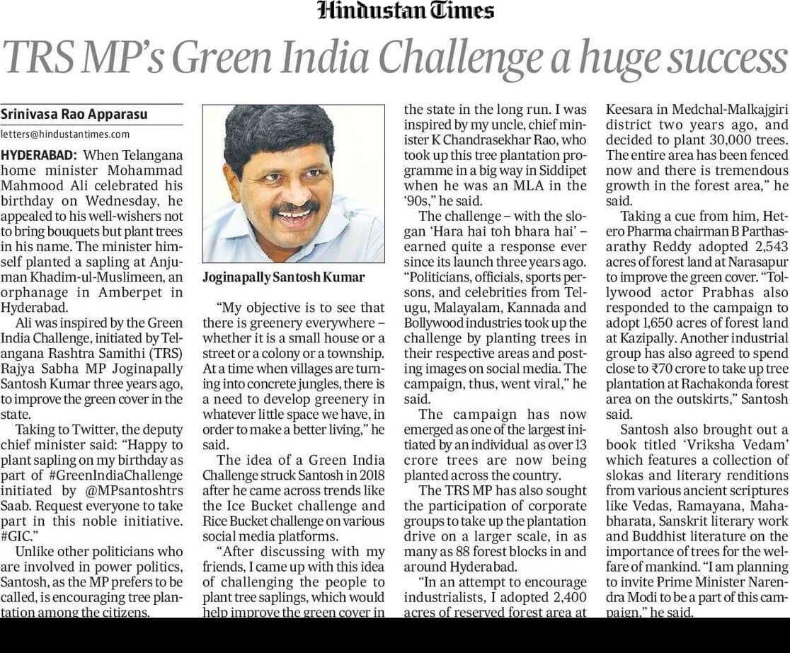 #greenindiachallenge