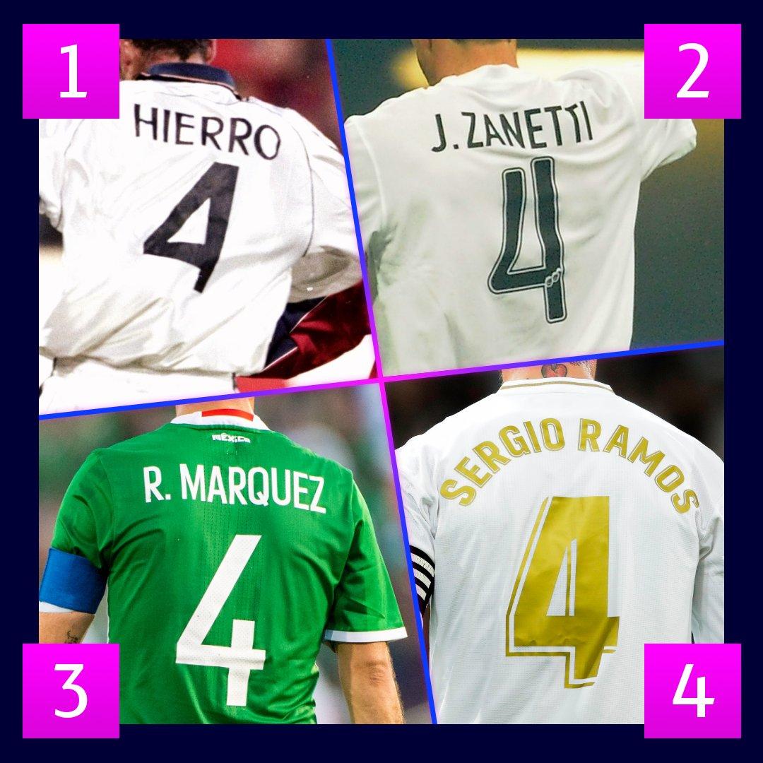 📆 Día 4⃣ del mes...  🤩 Dorsal de defensas que han hecho historia ⛔  ¿A cuál de estos cuatro ficharías para tu club? 🤔  #UCL