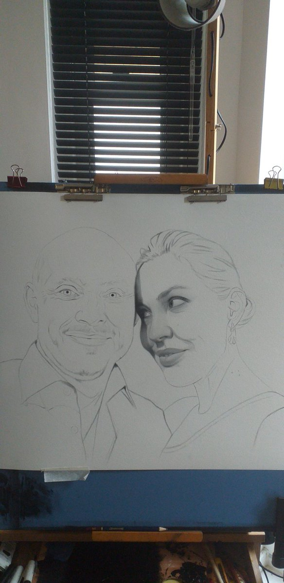 The making of my latest #painting called unconditional love  New #art #portrait #painting #commission