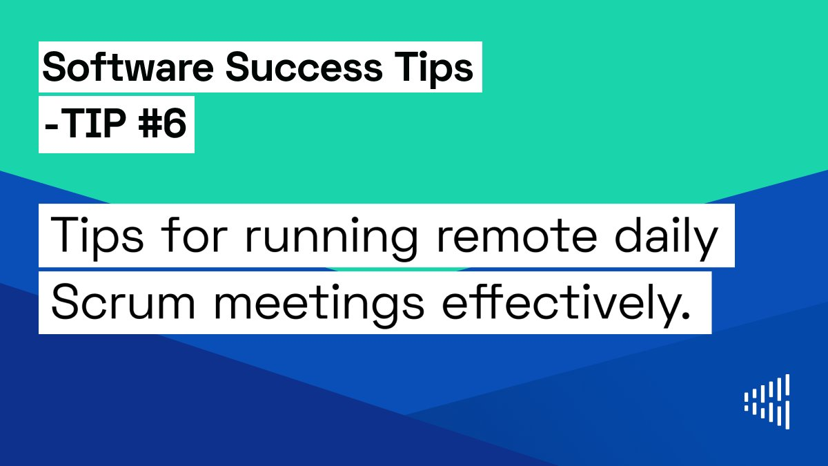Check out our tips for running remote daily Scrum meetings effectively.    #software #success #tech #scrum #remote #work