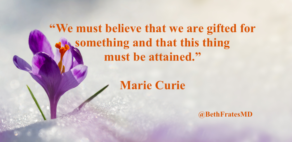"""""""Life is not easy for any of us. But what of that? We must have perseverance and above all confidence in ourselves. We must believe that we are gifted for something and that this thing must be attained."""" Marie Curie💜  #thursdaymorning #thursdayvibes #quoteoftheday #quote"""