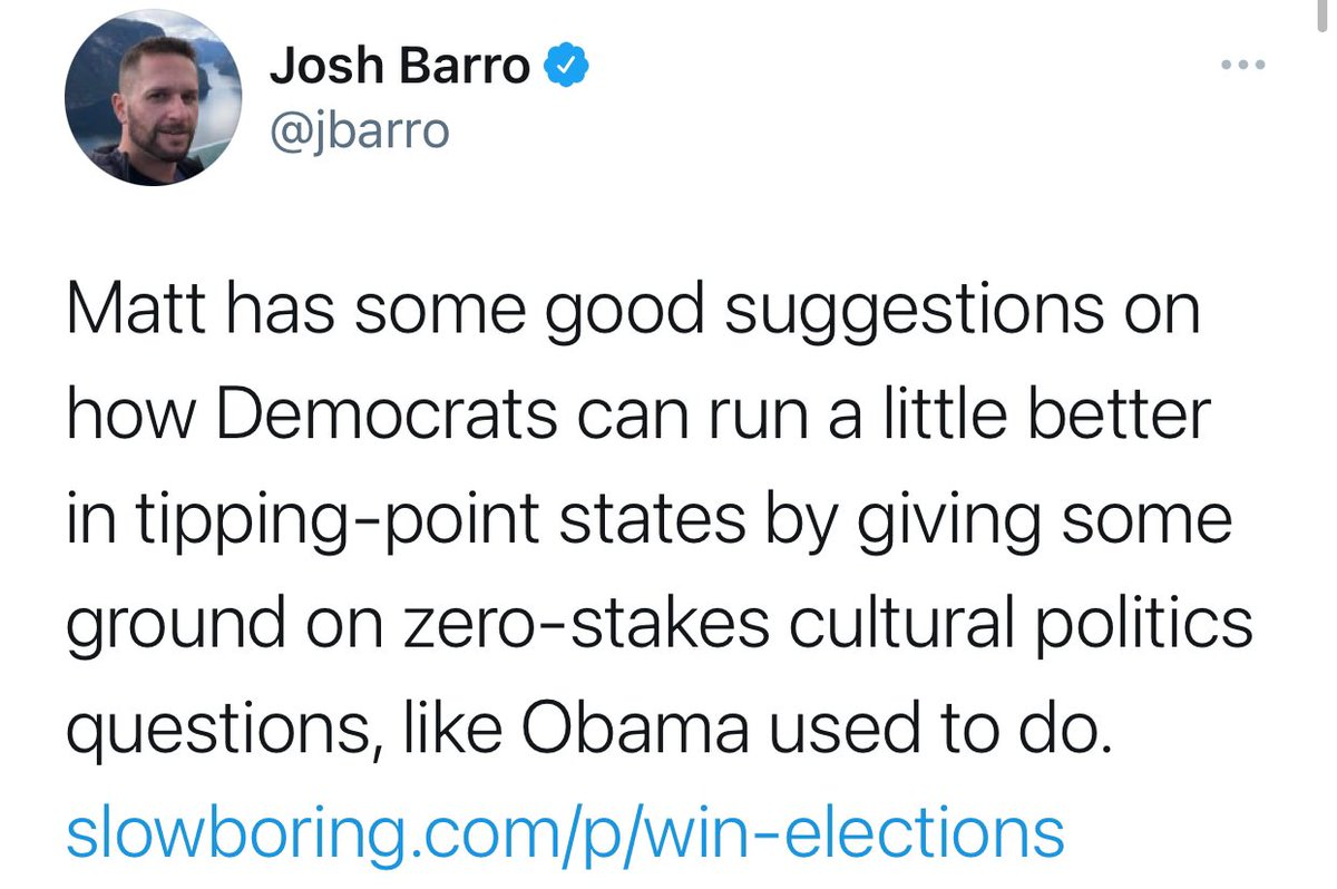 Democrats: what do you people want  People: jobs, money, healthcare  Liberal Brain Guys: ok you heard them, take the GOP bait and wade into culture wars issues I heard about on the news lately