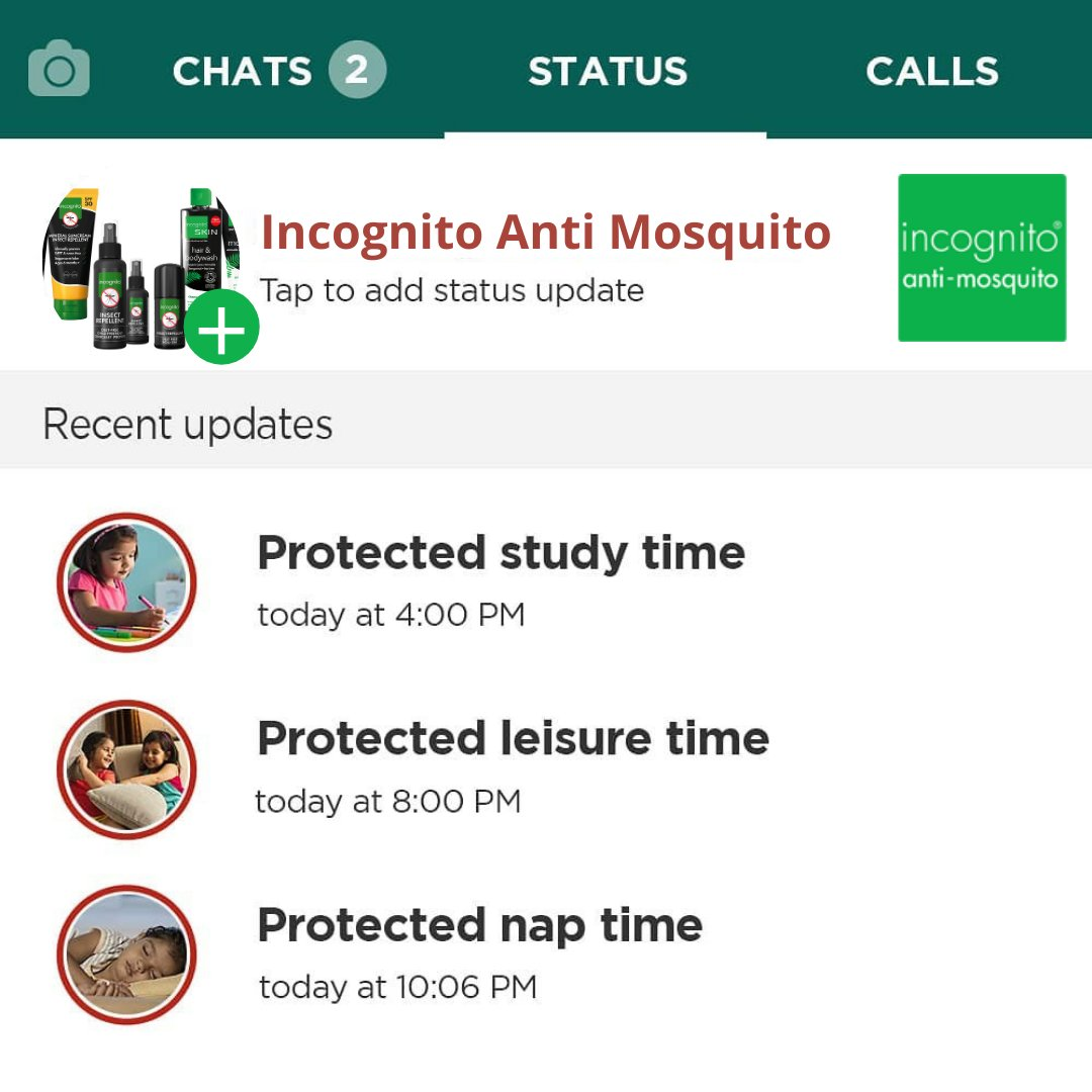 With #incognito by your side, rest assured that all your family moments will be protected from mosquitoes.  #mosquito #incognito #mosquito #Nature #StayProtected