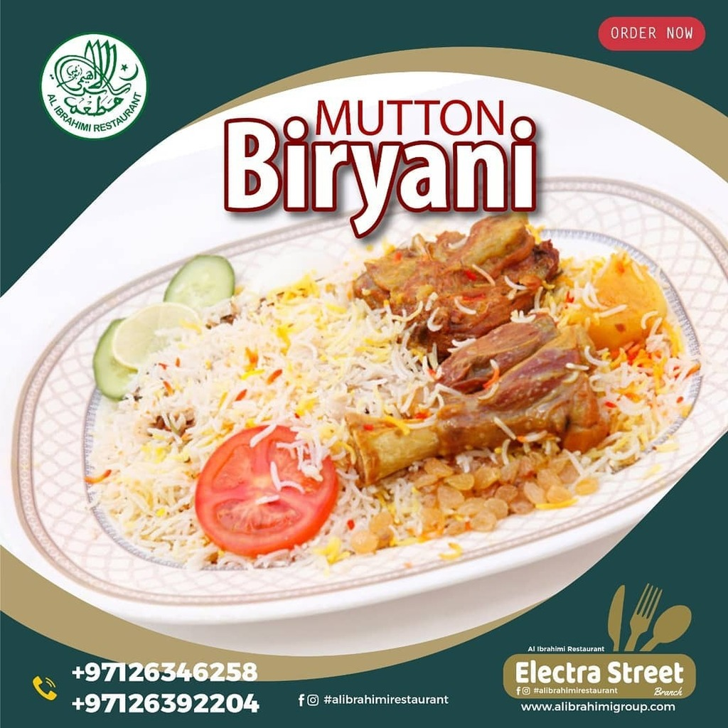 #mutton #biryani  . We offer complex menu with wide variety of dishes Visit Al Ibrahimi, we promise to serve you food in a timely manner.  Enjoy the BEST food with US. . #AlIbrahimi #Restaurant  #Photooftheday #Beautiful #Happy #Picoftheday #Tbt #Followme #Nature #Like4like …