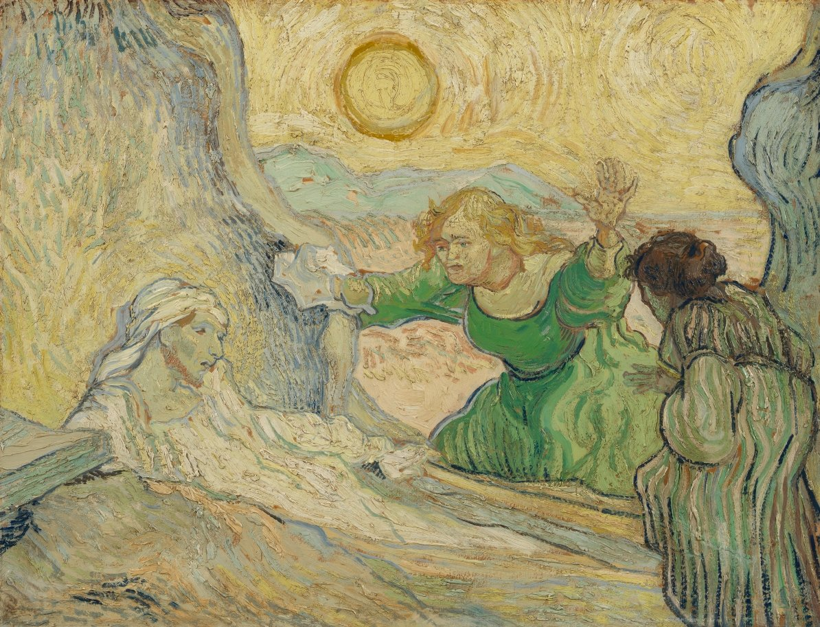 Do you think that Lazarus resembles Vincent van Gogh? In this painting, Vincent focused on human suffering; he left out the figure of Christ from the story. Van Gogh probably identified with Lazarus in the tomb, which would explain why he gave the figure a red beard. https://t.co/aN6ln2uL83