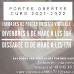 Image for the Tweet beginning: Jornades de portes obertes a