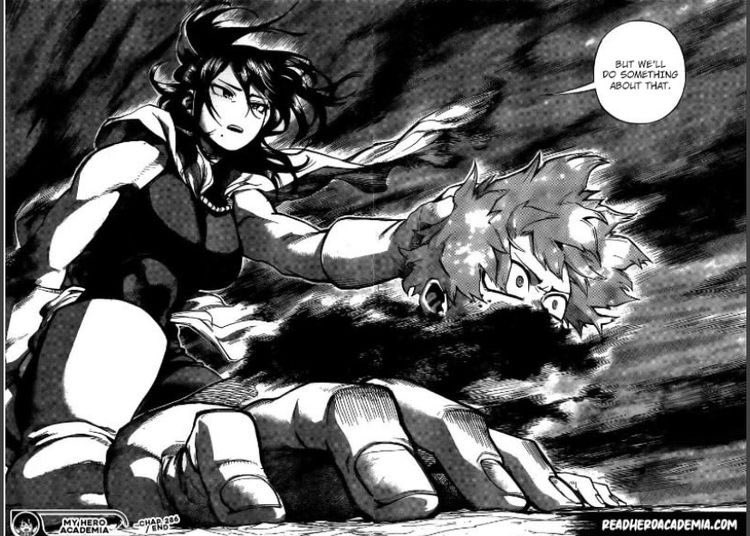 YALL I SWEAR I HAVE SEEN THIS PIC OF NANA SHIMURA BEFORE, BUT ITS NEVER BEEN WITH IZUKU UNTIL THIS CHAPTER. PLS TELL ME IM NOT CRAZY AND THAT YOU'VE SEEN THIS PIC OF JUST HER TOO #bnha304