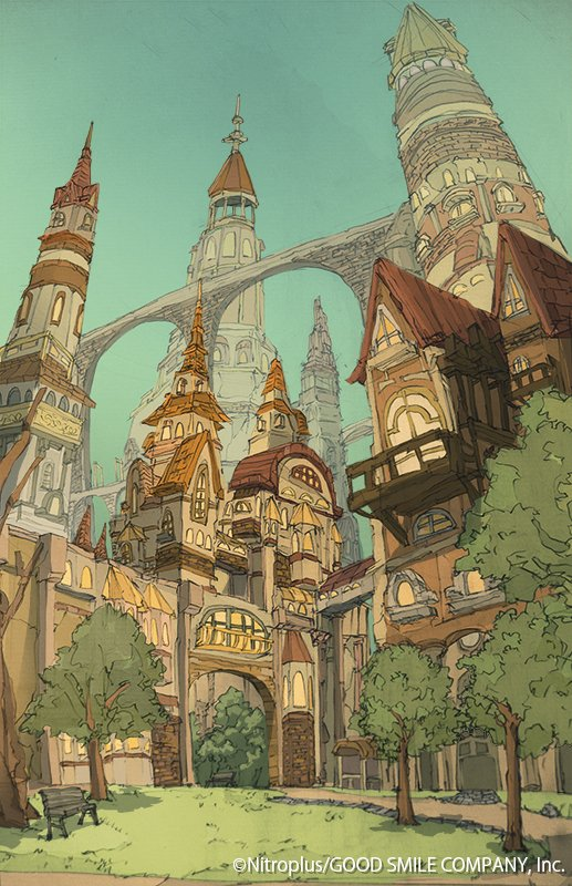 【お知らせ】 本日リリースのアプリRPG 「咲う アルスノトリア」@Arsnotoria_GAME にて 魔法学園都市アシュラム内の施設背景画を担当しております。 魔法でファンタジーでスケールの大きい世界作りをお手伝いさせて頂きました☀ ぜひアルスノトリアの世界を楽しんでいただければ! #アルスノ