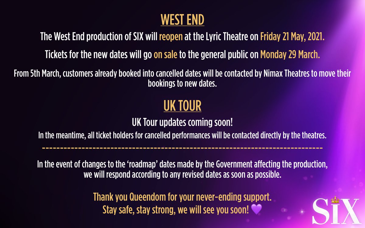 Replying to @sixthemusical: Update 4.3.21 👑💜