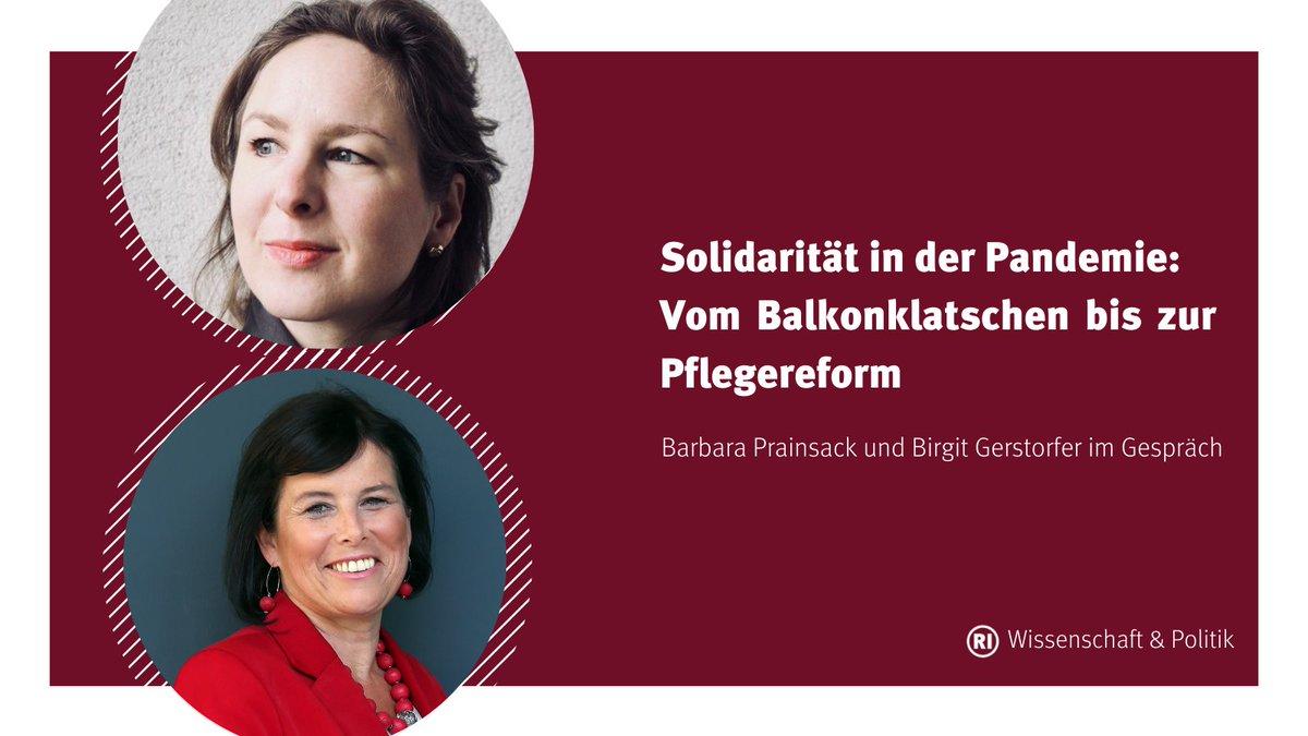 Lesetipp 💡 @BPrainsack (@univienna) und @b_gerstorfer (@spooe u Soziallandesrätin) im Gespräch über Solidarität in der Pandemie und gesellschaftliche Organisation von Pflege. Hier entlang zum RI Wissenschaft & Politik Blog 👉 wissenschaftundpolitik.at/2021/03/02/sol…