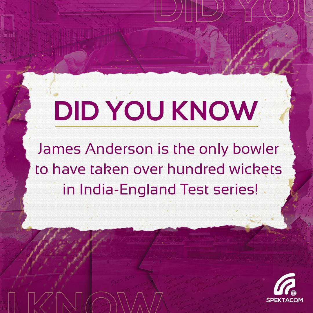 The speedster supreme has the highest tally of wickets between the sides! 🔥  #Cricket #INDvENG #SpekTalk #Trivia #Thursday 32