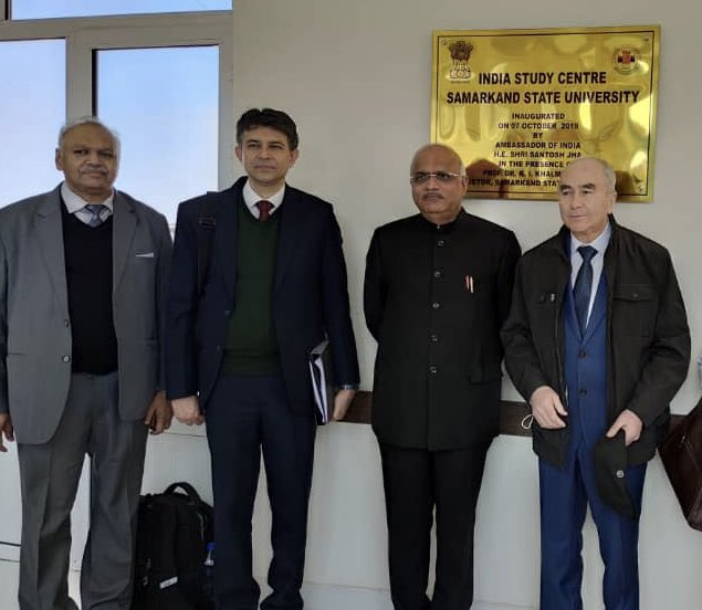 In Uzbekistan, India has supported through @ICCR_Delhi at least six Universities run India Study Centre/Room! At Samarkand State University, visited the Centre and interacted with faculty and staff! From Hindi and Indology to New Tech, Indian teachers are much in demand!