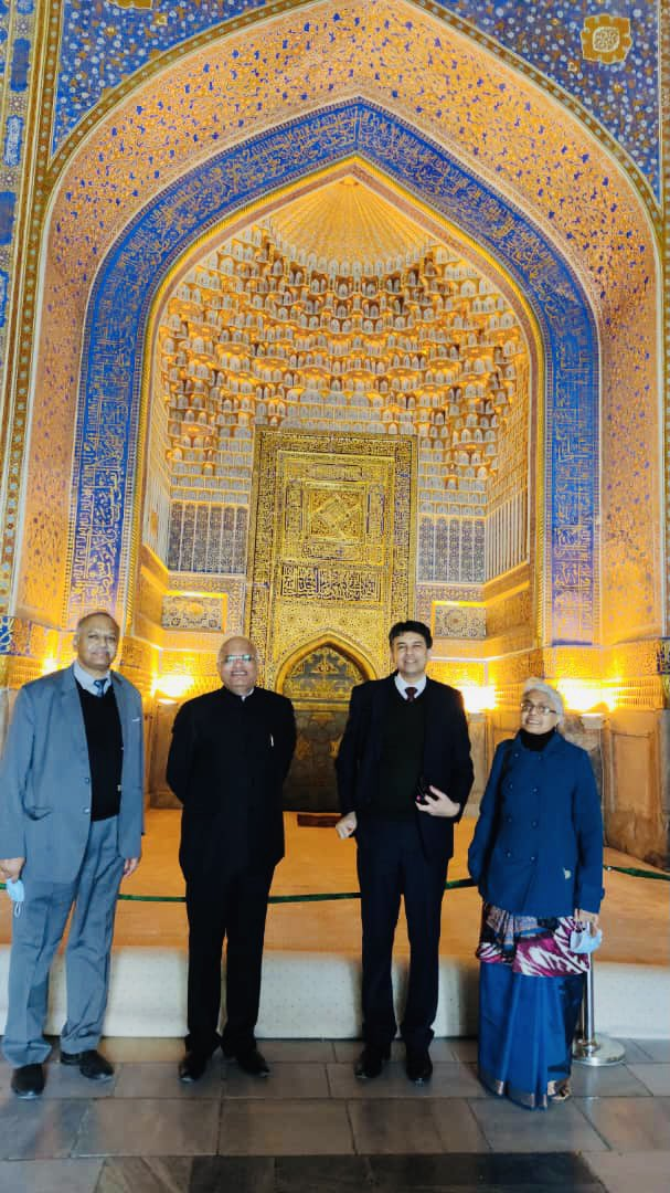 At post Samarkand! Glimpses of historic monuments at the Registan Square and other important sites! From Bibi Khanum's story to Jantar Mantar in Jaipur/ Delhi; India connection is omnipresent !