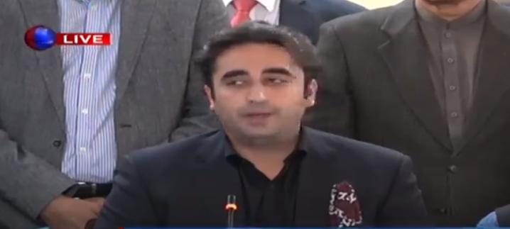#BreakingNews   بلاول بھٹو کی  میڈیا سے گفتگو وزیراعظم نے کہا تھا اگر ہم سیٹ گئے تو وہ اسمبلیاں تحلیل کردیں گے، بلاول بھٹو   #PPP @BBhuttoZardari @MediaCellPPP @GovtofPakistan @MoIB_Official #PressConference #WaqtnewsUpdates #Waqtnews
