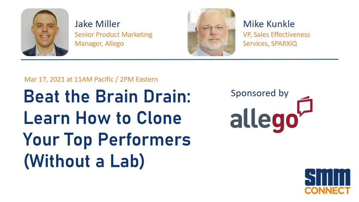 Beat the Brain Drain: Learn How to Clone Your Top Performers (Without a Lab) @allegosoftware @Mike_Kunkle,  #training #learning #elearning #LearningandDevelopment #TrainingAndDevelopment