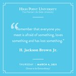 [CALENDAR] #DailyMotivation from H. Jackson Brown Jr. #HPU365