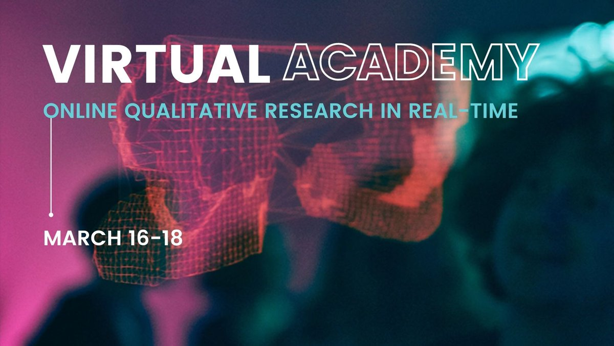 Are you used to face to face #qualitativeresearch and are looking to transition to online? The Virtual Academy has the course for you  Join the academy and grow your insight 👉   #insights #mrx #data #research #training