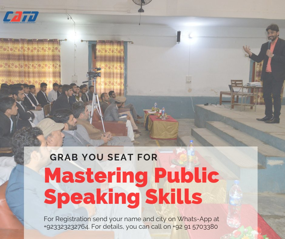 Get connected for Mastering Public Speaking Skills program, to become a professional public speaker.  For registration click on the link below:   #catd #impact #training #growth #public #speaking #skills #training #program #joinus