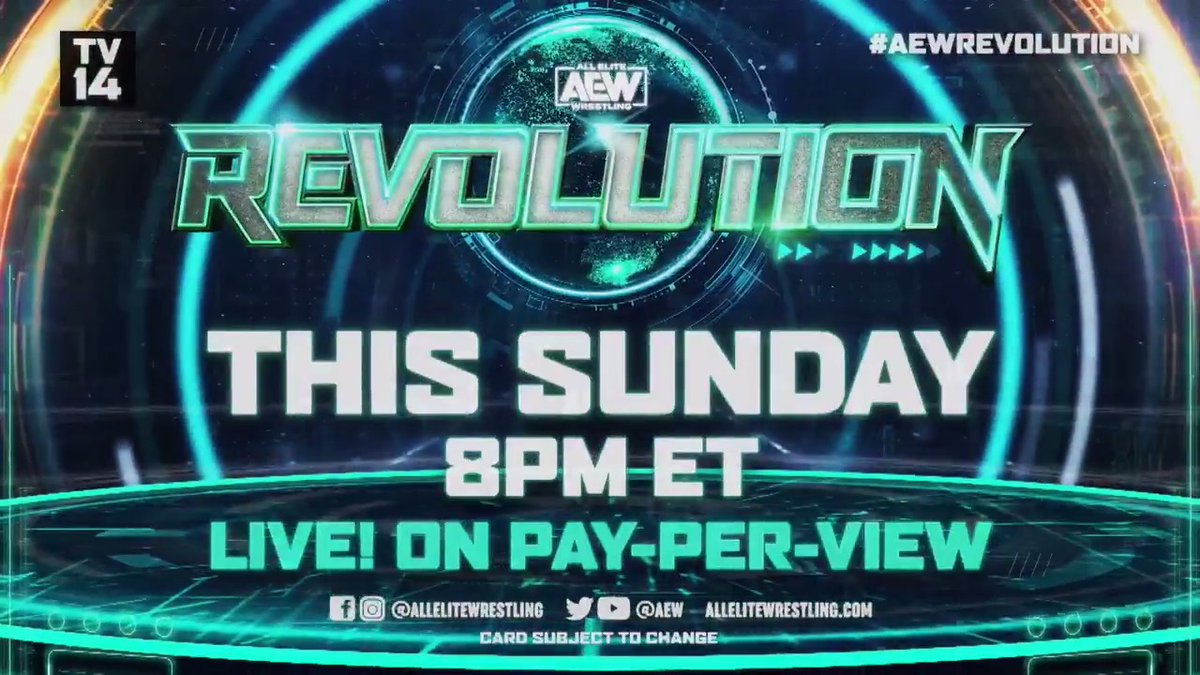 This Sunday at #AEWRevolution, this rivalry has reached a boiling point as @MrGMSI_BCage & @starkmanjones of #TeamTaz face the TNT Champion @DarbyAllin and THE ICON @Sting in a STREET FIGHT!  Watch #AEWRevolution, Sunday, March 7th LIVE on PPV 8/7c