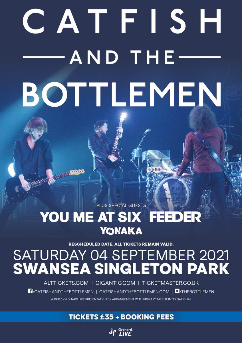 The show will to on!!! Reschedule with @thebottlemen @youmeatsix @FeederHQ LETS GOOO I think we all know this will be a mad one 👽👽🖤🖤