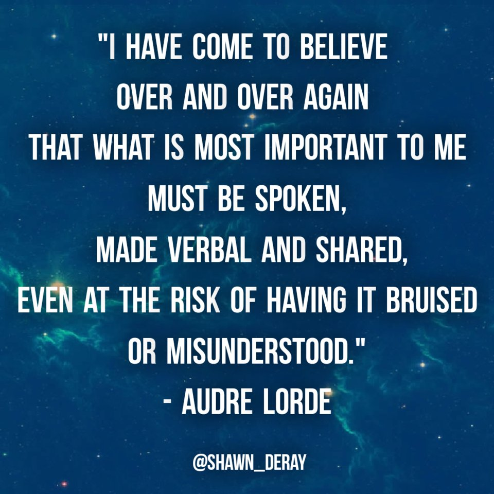 #foodforthought #morningmeditations #inspirationalquotes #motivationalquotes #dailymeditations #mindbodyspirit #dailyquotes #lifelessons #lifequotes #AbundanceMindset #life #selfmastery #OurLivesMatter #SelfExpression  #SpeakYourTruth #Courage #MarsInGemini #AudreLorde #March4