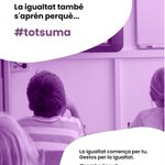Image for the Tweet beginning: 💜Gestos per la Igualtat. La