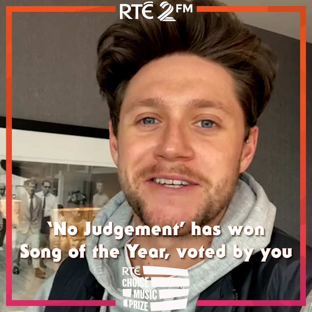 Replying to @RTE2fm: And the winner of #RTEChoicePrize 'Song of the Year' is...   @NiallOfficial with 'No Judgement' 👏👏
