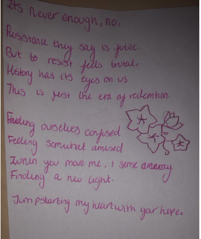 'Poetry is the spontaneous overflow of powerful feelings' - William Wordsworth ✒️ Our #Year9 students Noshin A and Hally P know this and show us just that! #poetry #inspiration #hope and #dreams 📝📚#English