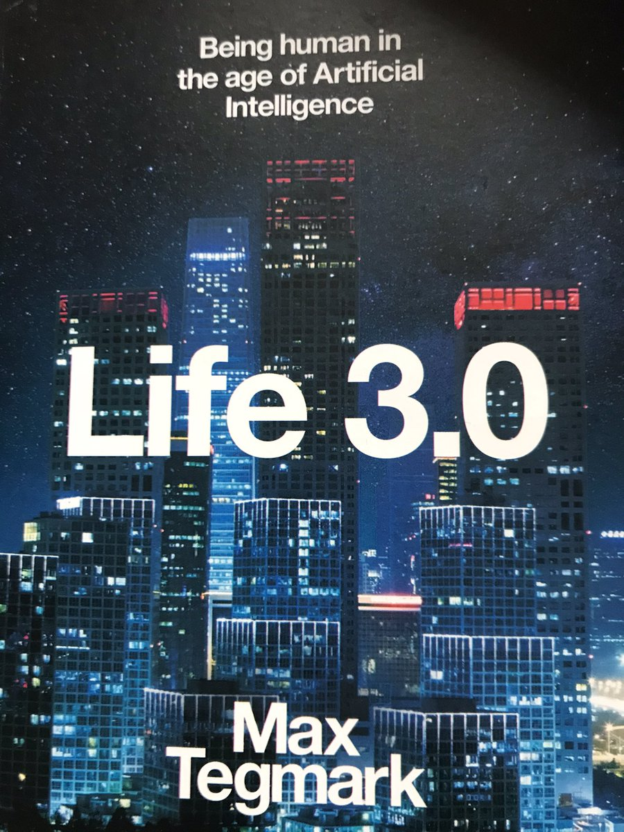To mark #WorldBookDay I want to highlight what I'm reading at the moment. Life 3.0, early into it, mind bending but in a good way and food for thought - what happens when AI becomes smarter than us? @CardiffUniLib #books #reading 📚