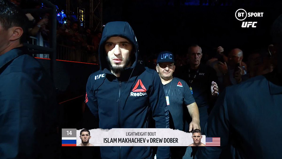 .@MAKHACHEVMMA v @DrewDober finally goes down! 🙌  The #OpenMat gang look ahead to a big fight in the lightweight division...  Who's pumped to see how Islam Makhachev looks?  #UFC259 | Saturday | BT Sport 2 HD https://t.co/xawSUHbOjH