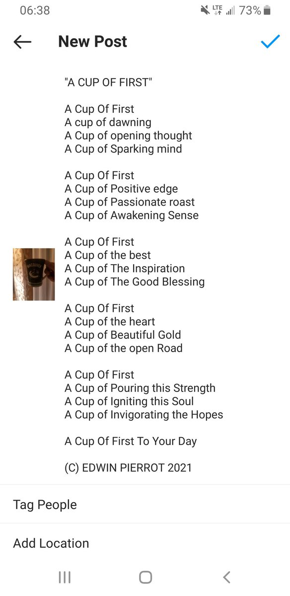 """A CUP OF FIRST""  #Poetry #Songwriting #Poem #CountryMusic #inspiration #Motivation #ThursdayThoughts #GoodMorning #PracticeWhatYouPreach #PracticeWhatYouTeach"