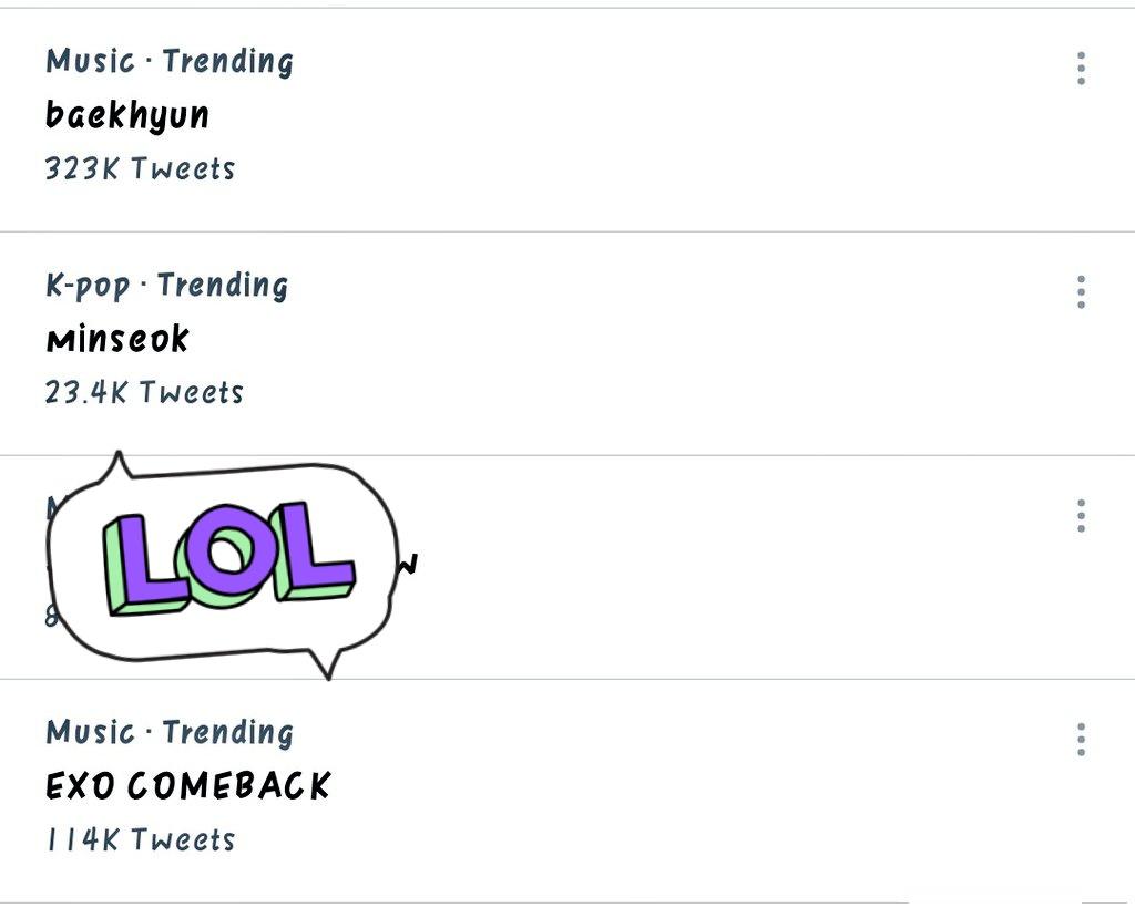 March 4 is a Exo Trend Day ❤️ Baekhyun new album Minseok bubble update with selca Exo comeback Chanyeol Movie  KaixGucci  #Exo #EXO_COMEBACK  #KAIxGUCCI #kai #baekhyun #Chanyeol #Minseok #Xiumin #Sehun @weareoneEXO #kyungsoo