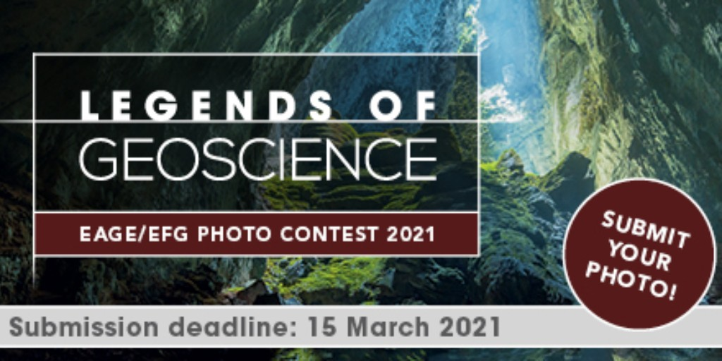 The 2021 @EAGE_Global / @EfgInfo photo contest is searching for extraordinary actions or aspects in all fields of geoscience, particularly: •Geosciences for Society •Women Geoscientists •Landscape and Environment •Geoscientists' Life Info & enter eage.eventsair.com/photocontest/