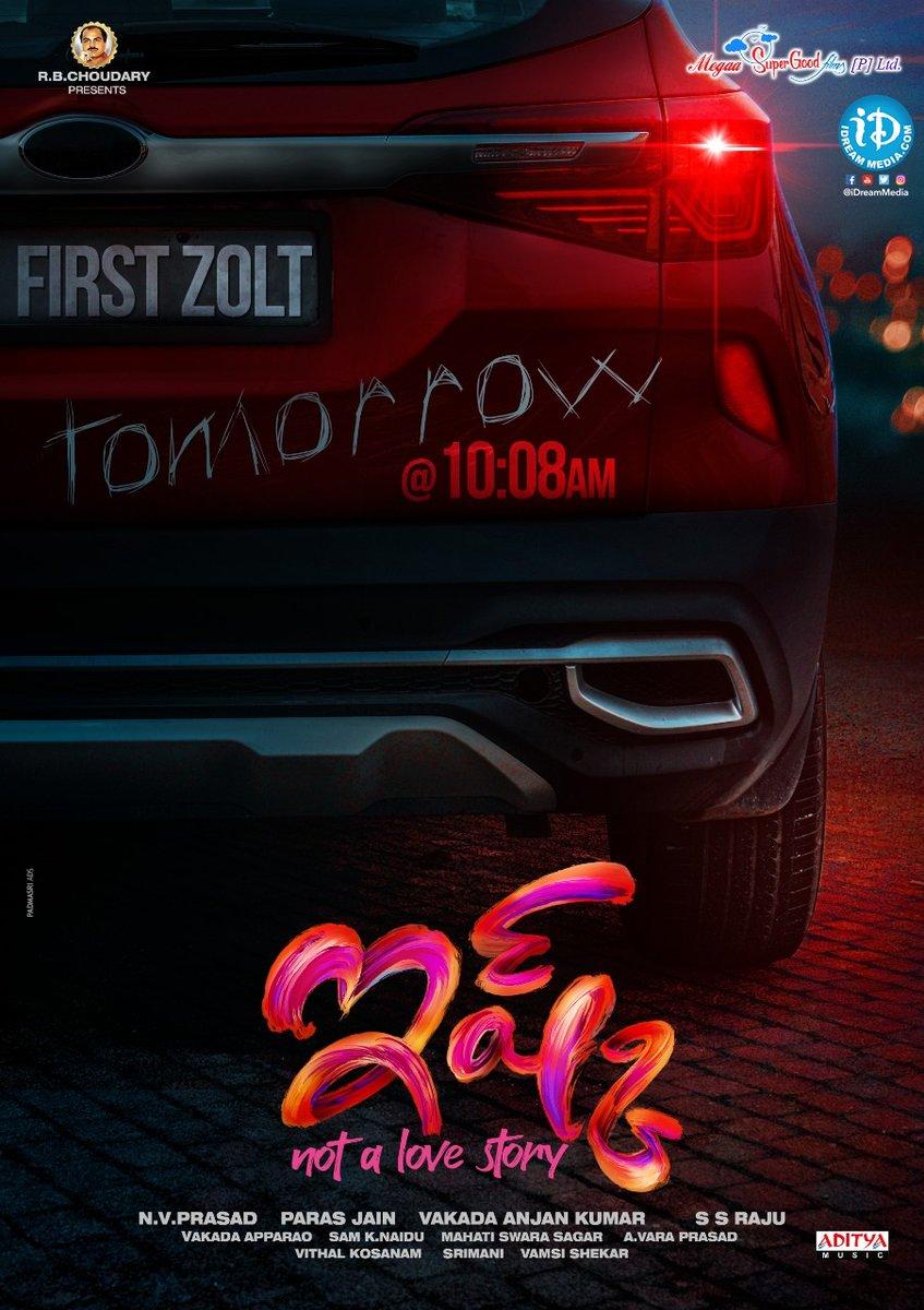 #Ishq First Zolt Poster will be out  at 10:08 AM tomorrow !!  @tejasajja123 #PriyaPrakashVarrier #SSRaju @mahathi_sagar  #IshqFirstZolt #iDreamFilmNagar   Subscribe To
