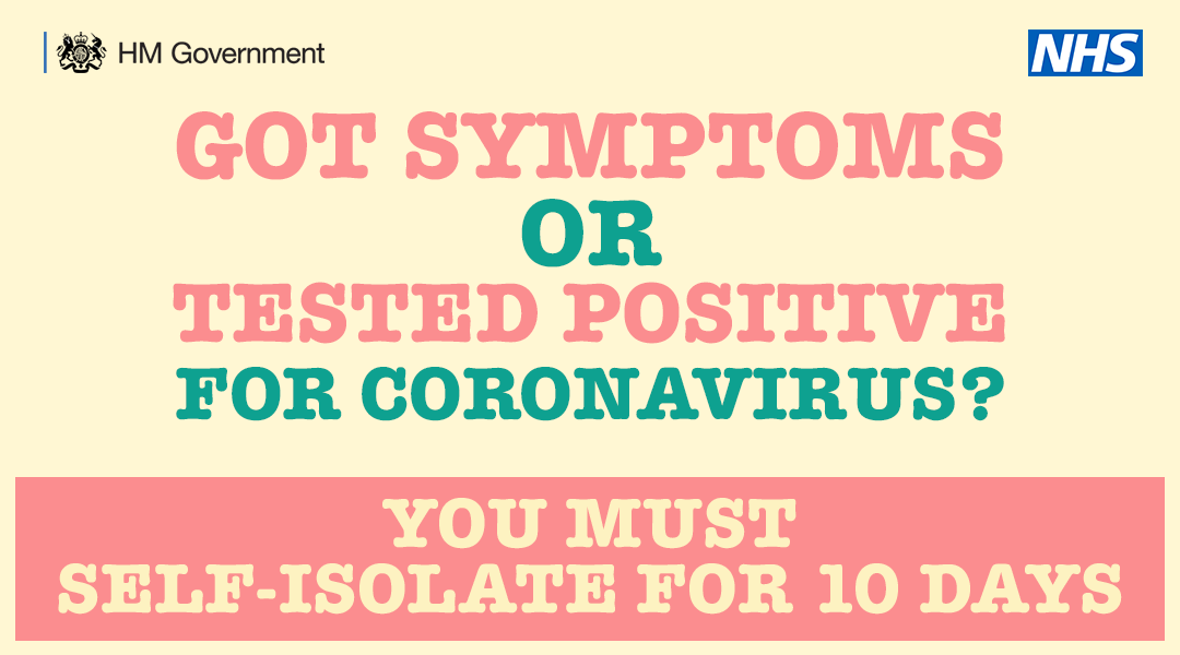 Its important to know the symptoms of #COVID19👇 👅/👃 loss/change in sense of smell or taste 🌡️high temperature 🗣️new, continuous cough You must self-isolate and not leave home except to get a test🏠 You can book your test here➡️ bit.ly/3gjsuQF