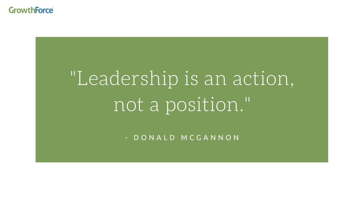 """#QuoteOfTheDay:  """"Leadership is an action, not a position""""- Donald McGannon"""