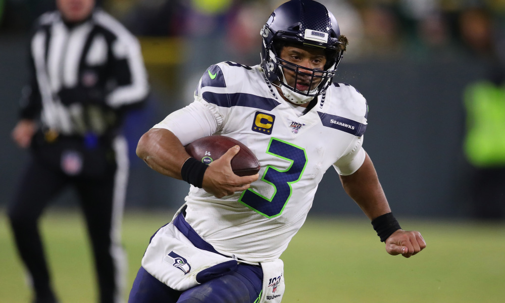 """The #Seahawks have made calls to other teams about trading away QB Russell Wilson, @diannaESPN tells @PatMcAfeeShow   """"He's not happy [in Seattle]"""""""