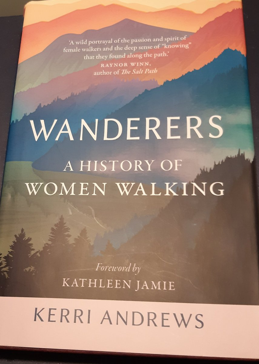 My favourite book for this #WorldBookDay WANDERERS By  @kerriandrewsuk She writes that for Dorothy Wordsworth (sis of William) 'walking provided her with a mechanism through which to comprehend and manage such strong emotions.' True for many yesterday, today and tomorrow!