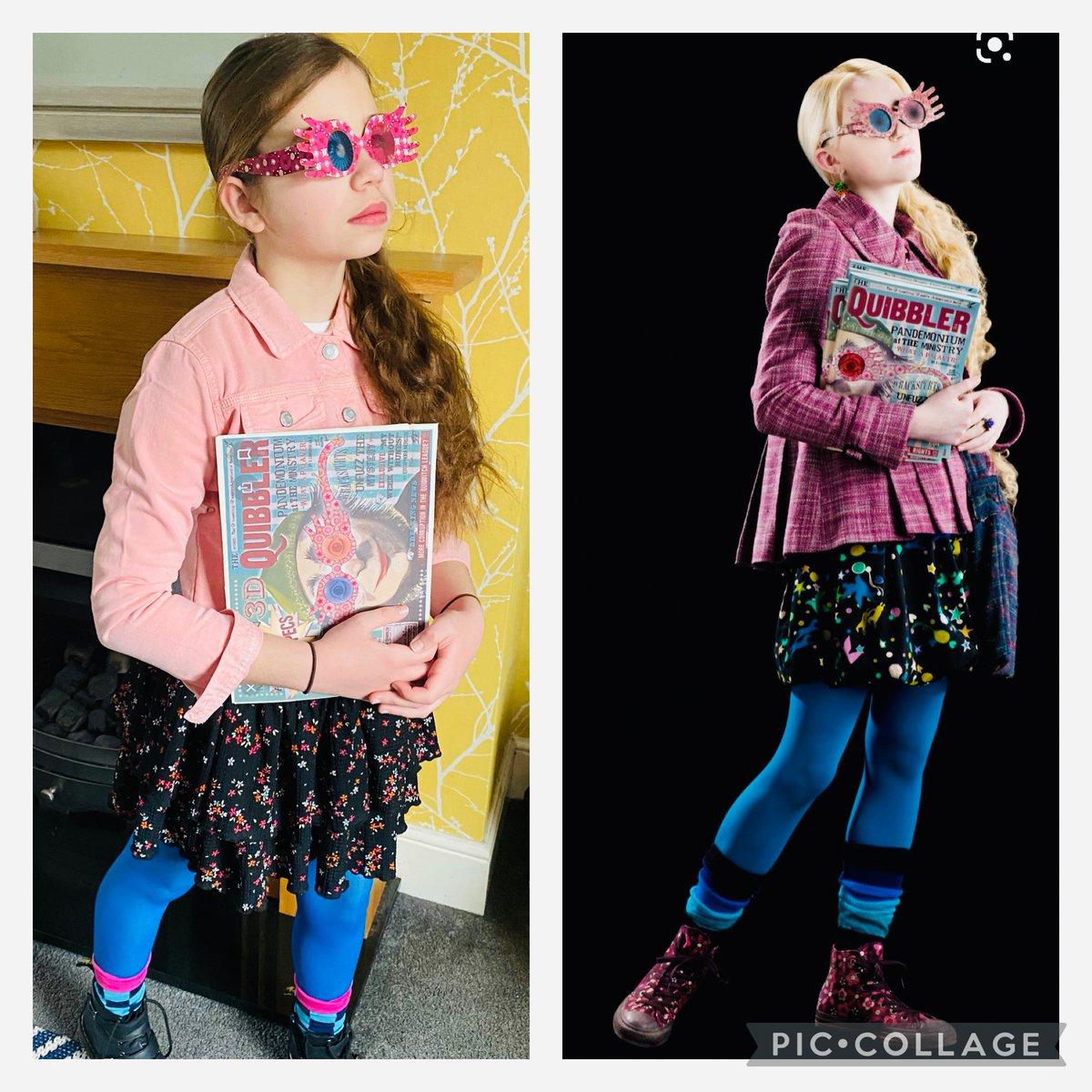 @wizardingworld My daughter loved being Luna today #WorldBookDay #lunalovegood